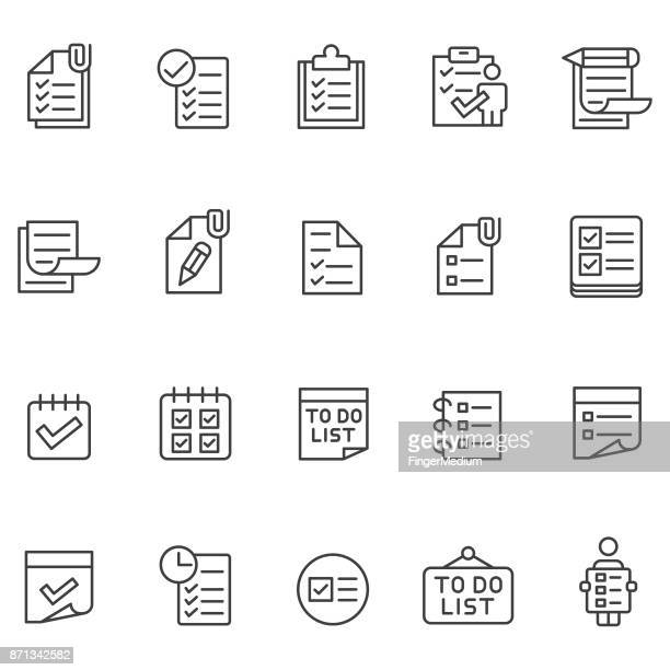 to do list icon set - list stock illustrations, clip art, cartoons, & icons