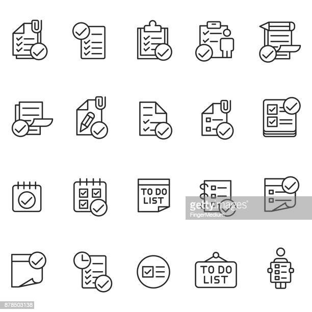 to do list icon set - to do list stock illustrations, clip art, cartoons, & icons