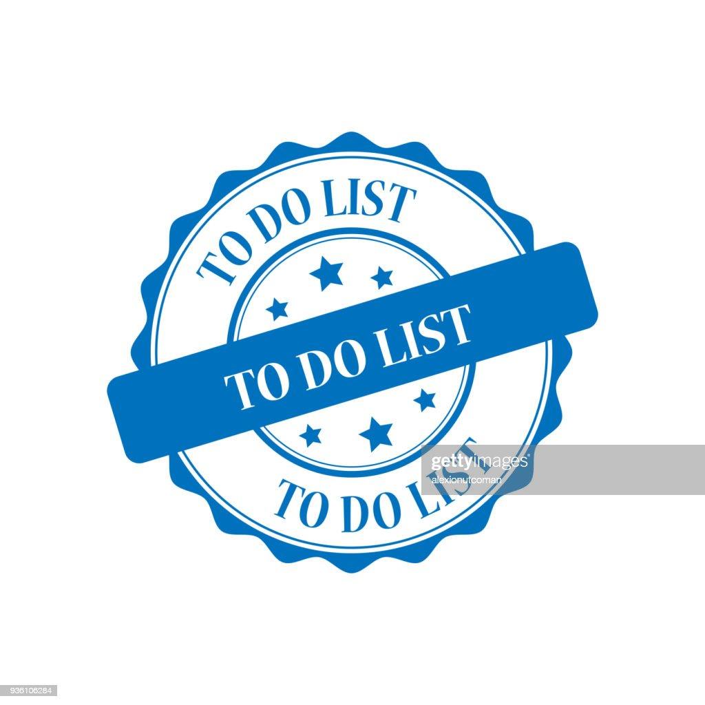 To do list stamp illustration