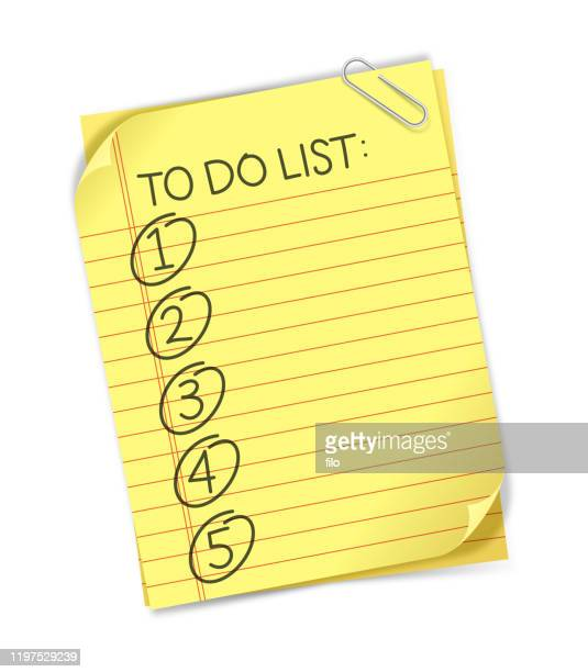 to do list - to do list stock illustrations
