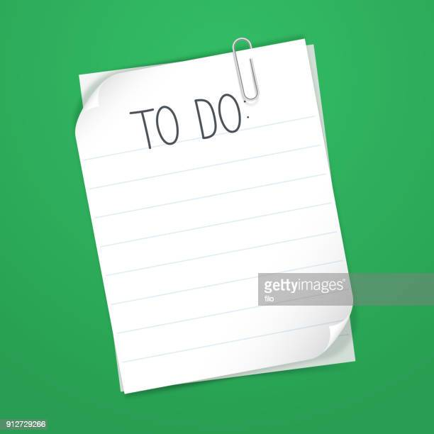 to do list - paper clip stock illustrations, clip art, cartoons, & icons