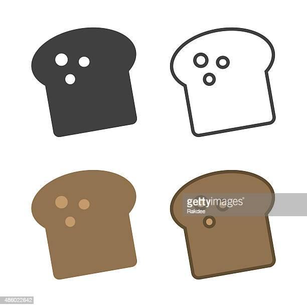toast icon - toast bread stock illustrations, clip art, cartoons, & icons
