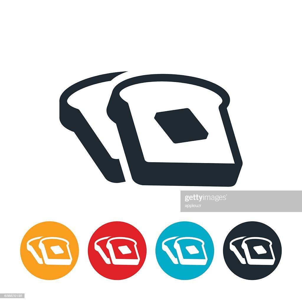 Toast Icon : stock illustration