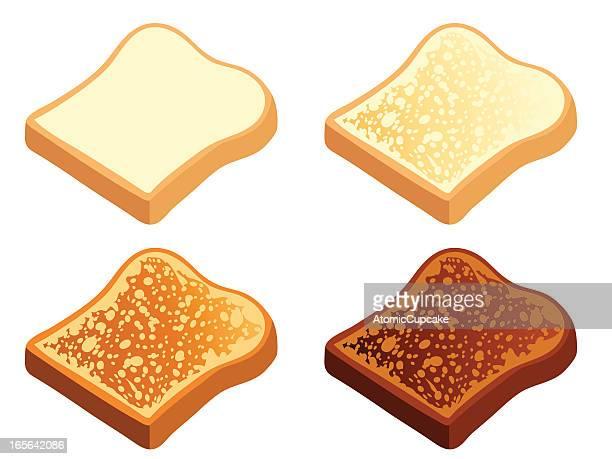 toast - toasted bread stock illustrations