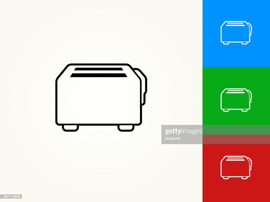 Toaster Black Stroke Linear Icon : stock illustration
