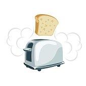 Toaster cartoonish illustration