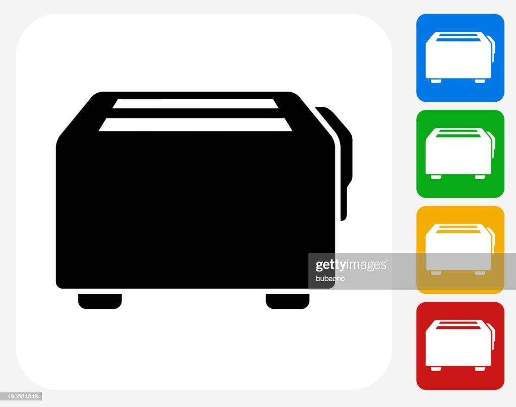 Toaster Icon Flat Graphic Design : stock illustration