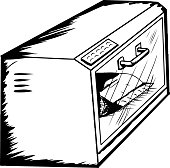 Toaster Oven with Food Outline