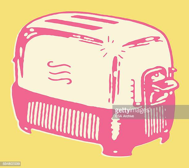 toaster - toaster appliance stock illustrations, clip art, cartoons, & icons