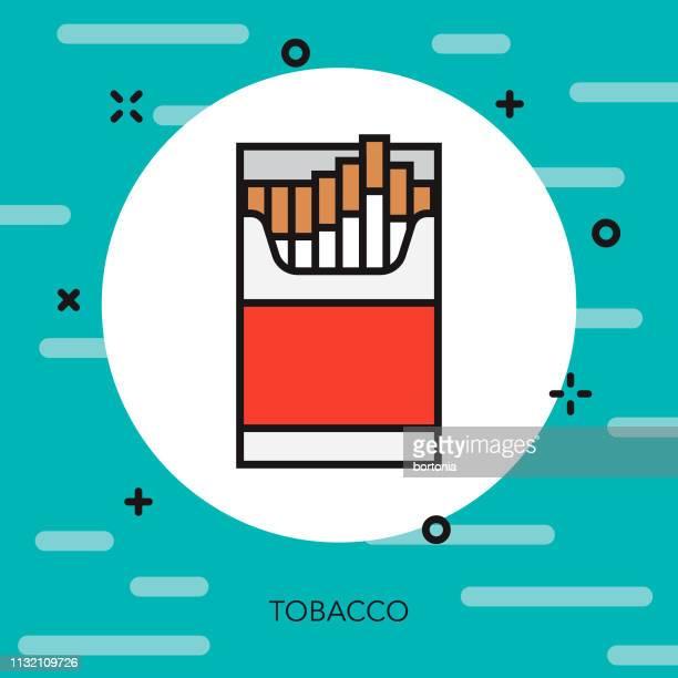 ilustraciones, imágenes clip art, dibujos animados e iconos de stock de icono de línea delgada de drogas de tabaco - smoke