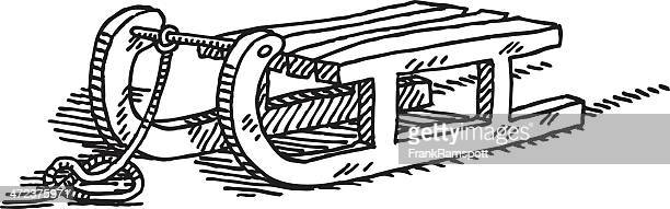 toboggan drawing - tobogganing stock illustrations, clip art, cartoons, & icons