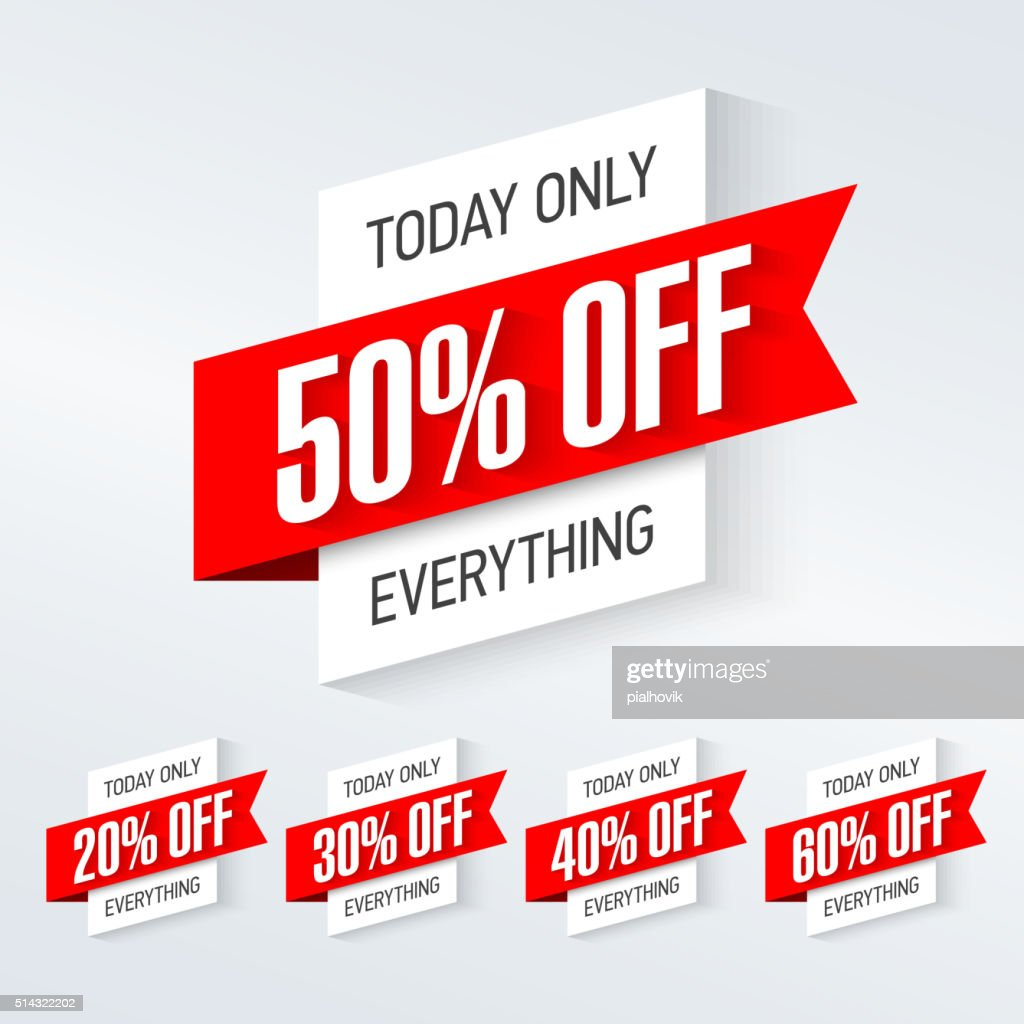 Today only, one day super sale banner