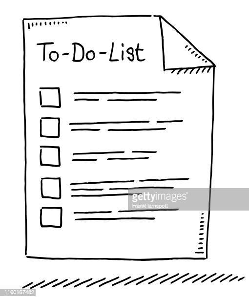 to-do-list symbol drawing - to do list stock illustrations