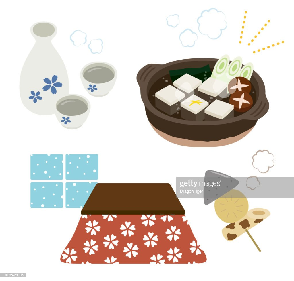 tofu hot pot and Kotatsu set