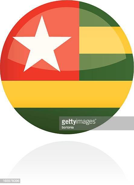 togo, africa flag button - togo stock illustrations, clip art, cartoons, & icons