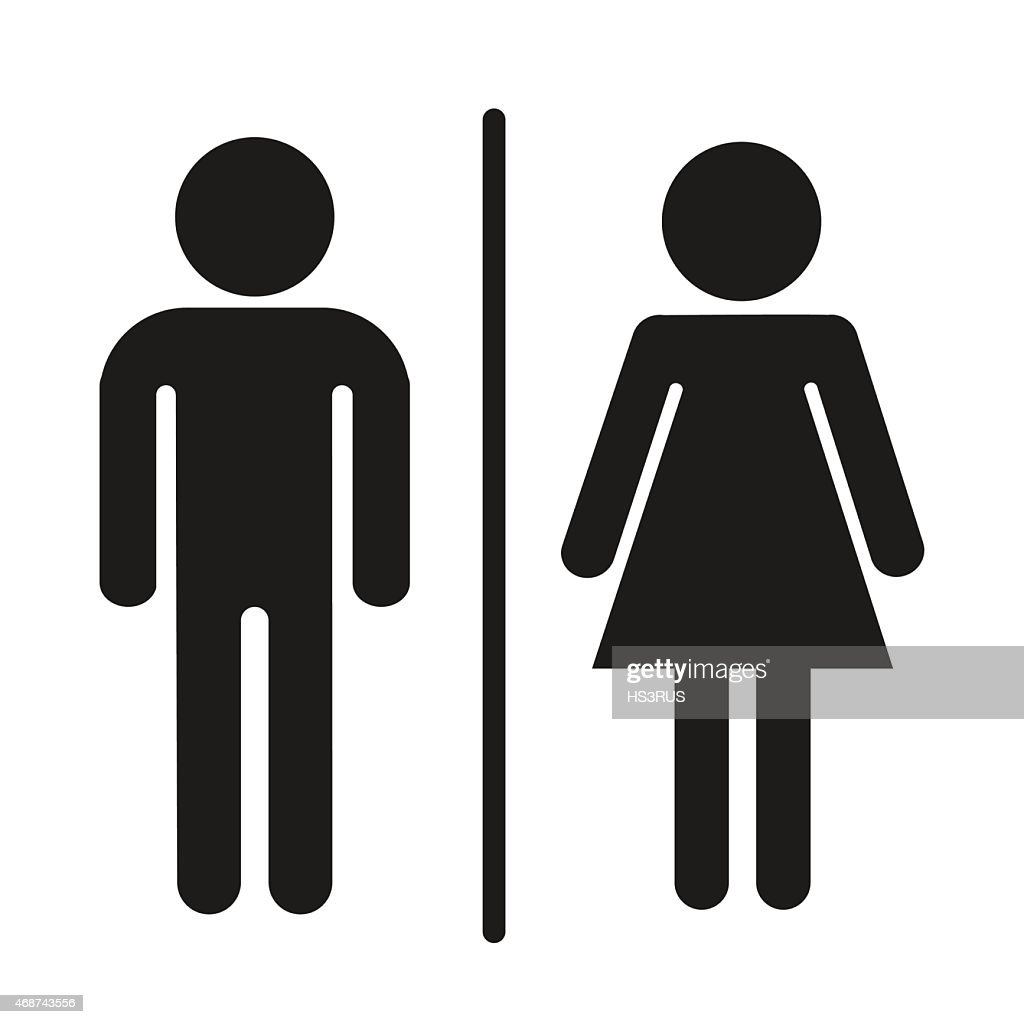 toilet a man and a lady sign