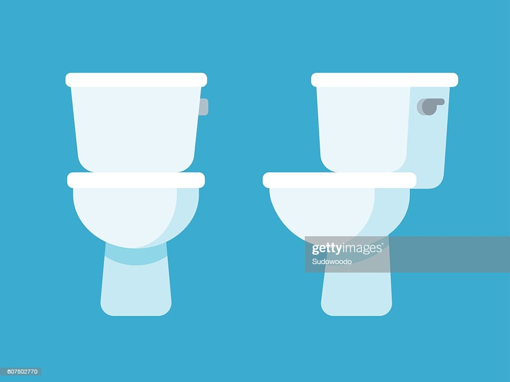 toilet bowl illustration