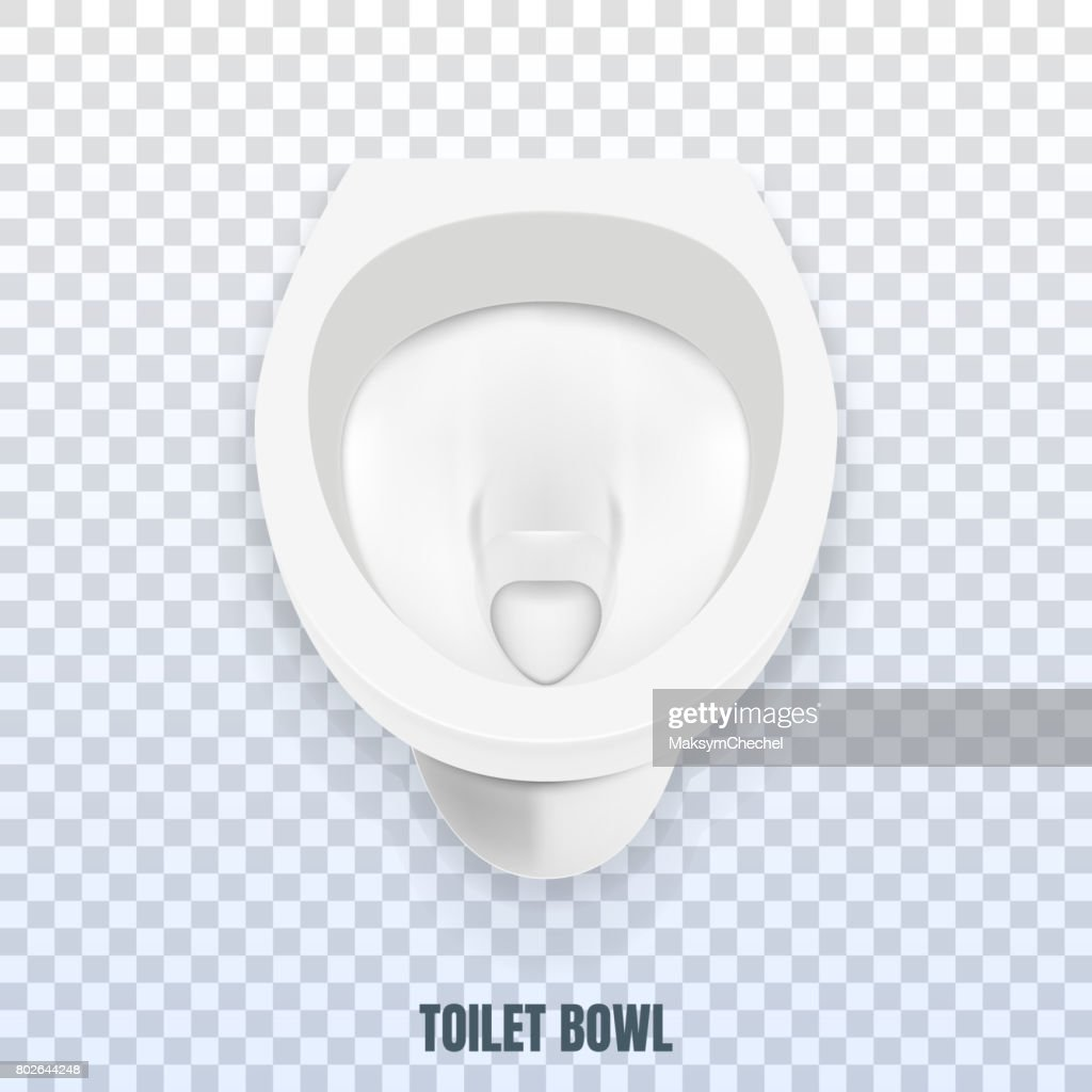 Toilet bowl realistic mockup. Toilet isolated on transparent background