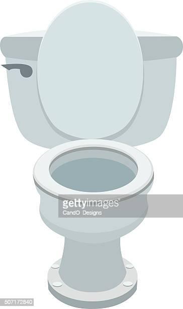 toilet bowl - bathroom stock illustrations, clip art, cartoons, & icons
