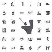 Toilet brush icon.