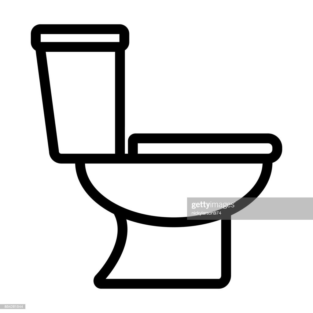 toilet icon on white background