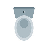 Toilet icon vector sign and symbol isolated on white background, Toilet logo concept