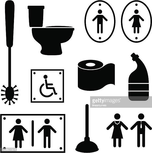 toilet items - plunger stock illustrations, clip art, cartoons, & icons
