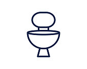 toilet line icon illustration vector, toilet line icon illustration design