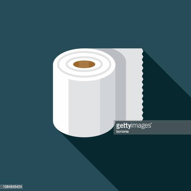 toilet paper flat design april fools day icon - april fools day stock illustrations