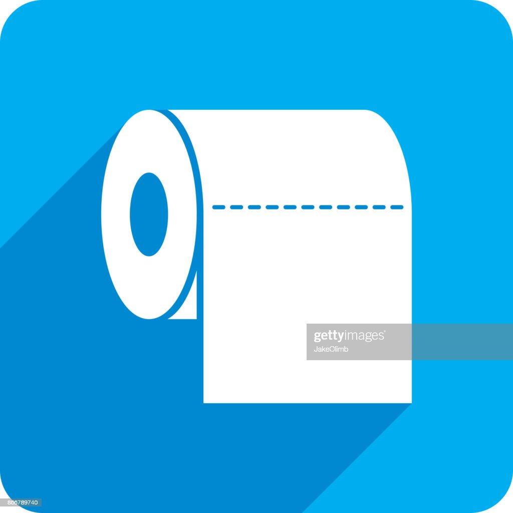Toilet Paper Icon Silhouette