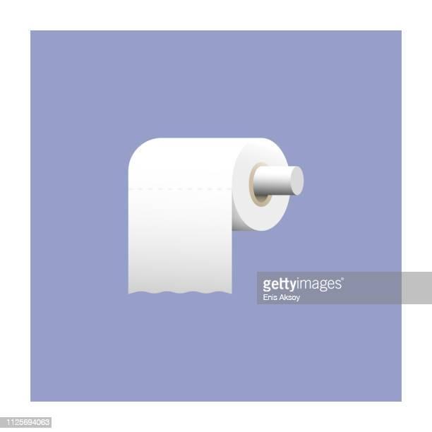 ilustrações, clipart, desenhos animados e ícones de ícone de papel higiênico - bathroom