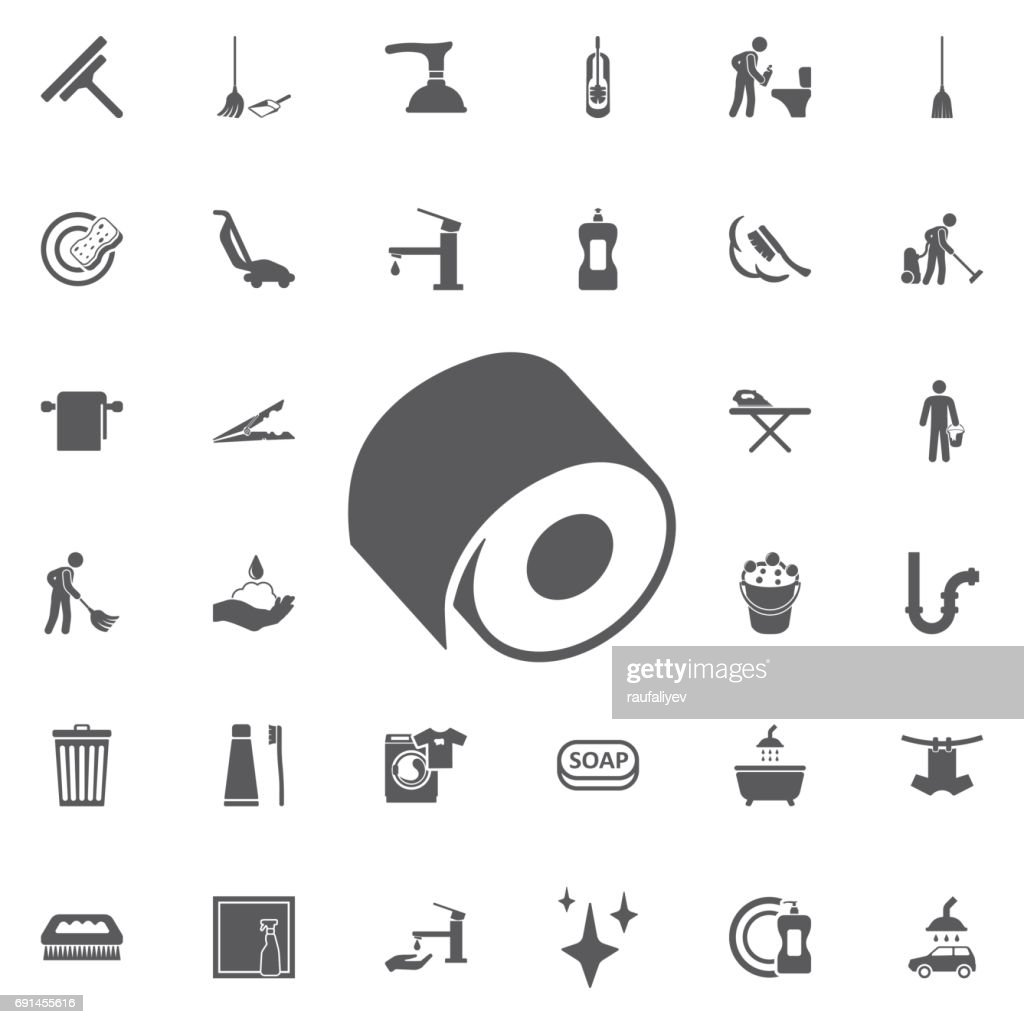 toilet paper icon, Vector.