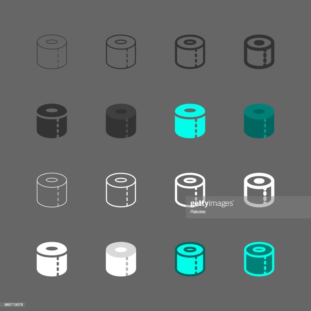 Toilet Paper Icons - Multi Series : stock illustration