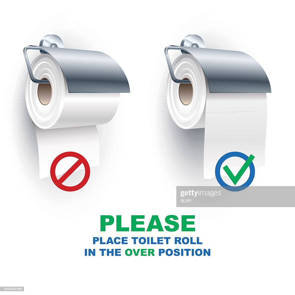 Toilet Paper Roll Spindle Under Over Position Rules