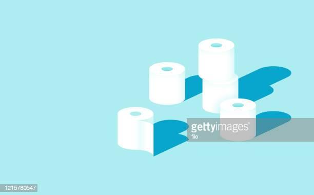 toilet paper rolls - toilet paper stock illustrations