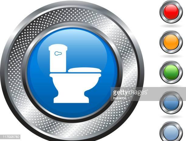 Sanita de arte vetorial royalty-free no botão metálico