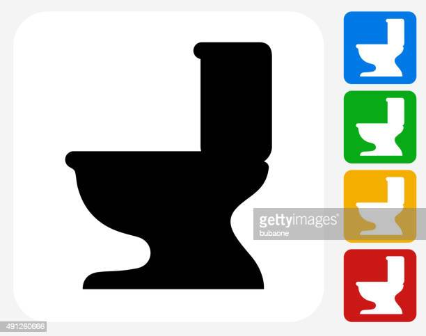 Toilet Seat Icon Flat Graphic Design