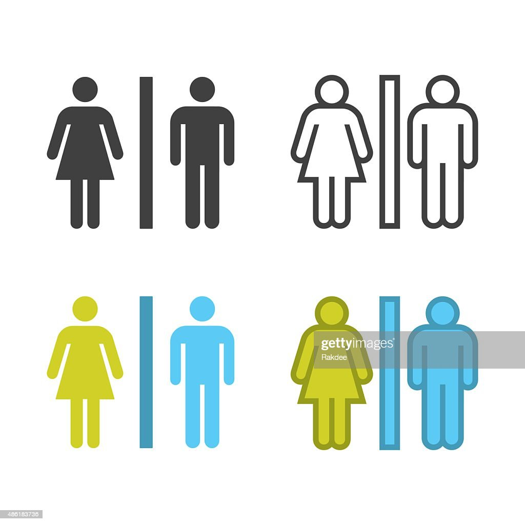Icono de señal de lavabo : Ilustración de stock