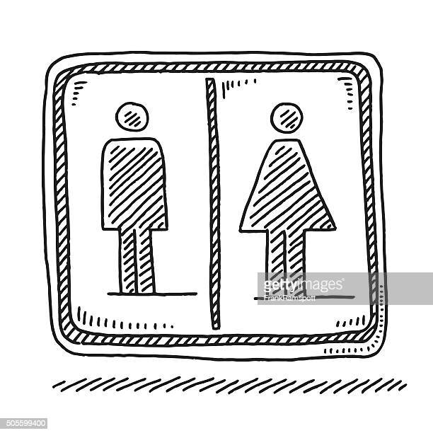 Restroom Sign Vector Art And Graphics