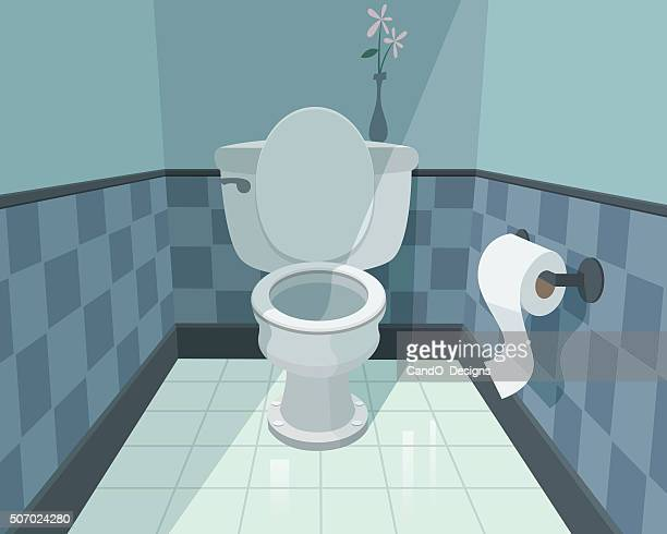 toilet - bathroom stock illustrations, clip art, cartoons, & icons