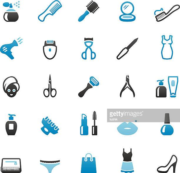 toiletries and beauty product - eye make up stock illustrations, clip art, cartoons, & icons