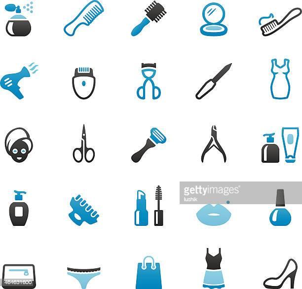 ilustraciones, imágenes clip art, dibujos animados e iconos de stock de artículos de tocador y productos de belleza - maquillaje para ojos