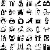 Toiletries Icon Set