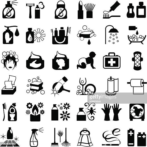 Toiletries Icon Set