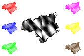 Tokushima Prefecture map vector