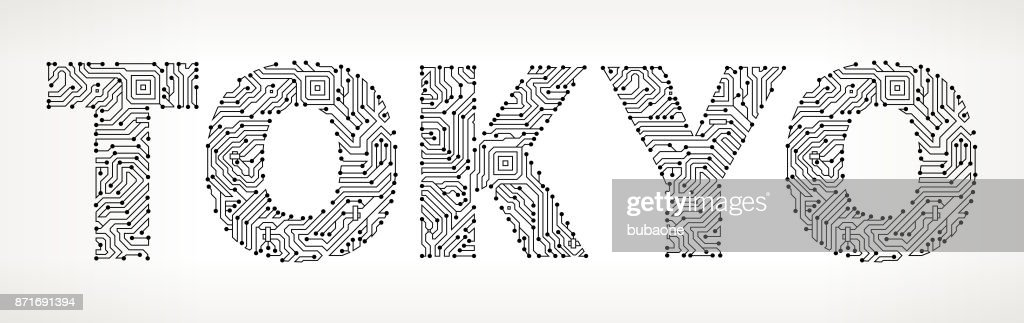 Tokyo Circuit Board Vector Buttons Vector Art | Getty Images