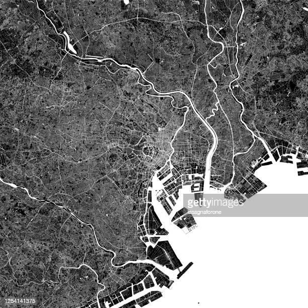 ilustrações, clipart, desenhos animados e ícones de mapa vetorial de tóquio, japão - distrito de shibuya