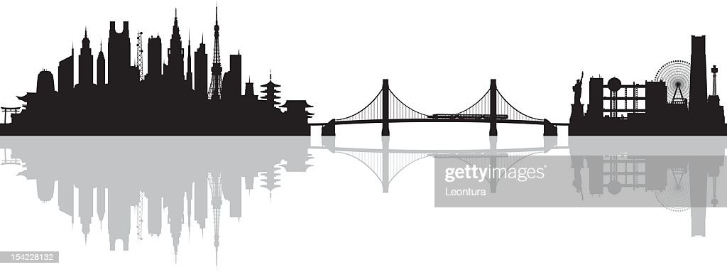 Tokyo (All Buildings Are Complete and Moveable) : stock illustration