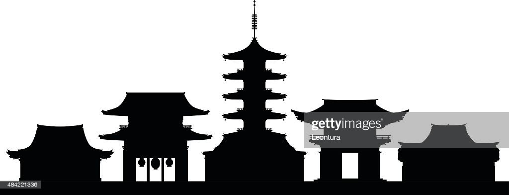 Tokyo (Buildings Are Complete and Moveable) : stock illustration