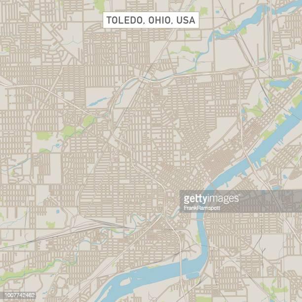 トレド オハイオ州米国街マップ - トレド点のイラスト素材/クリップアート素材/マンガ素材/アイコン素材